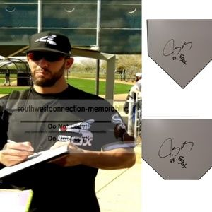James Shields Chicago White Sox Signed Home Plate